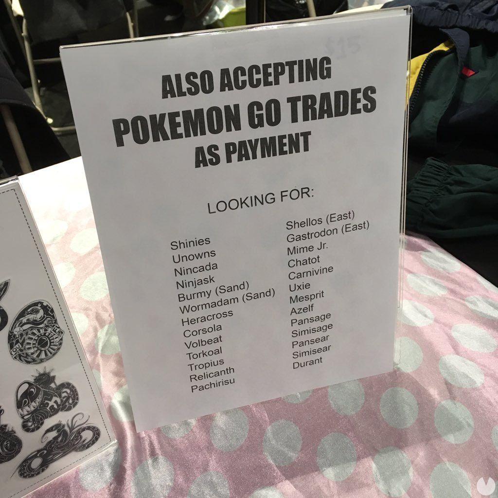 Pokémon Go: No es verdad que se acepten Pokémon como pago en establecimientos