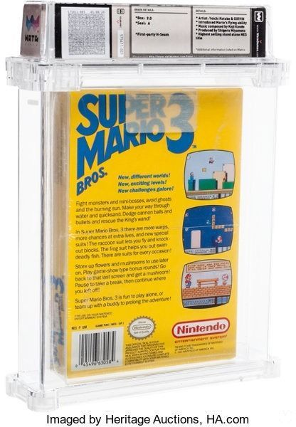 Image of Super Mario Bros. 3 sold for $ 156,000