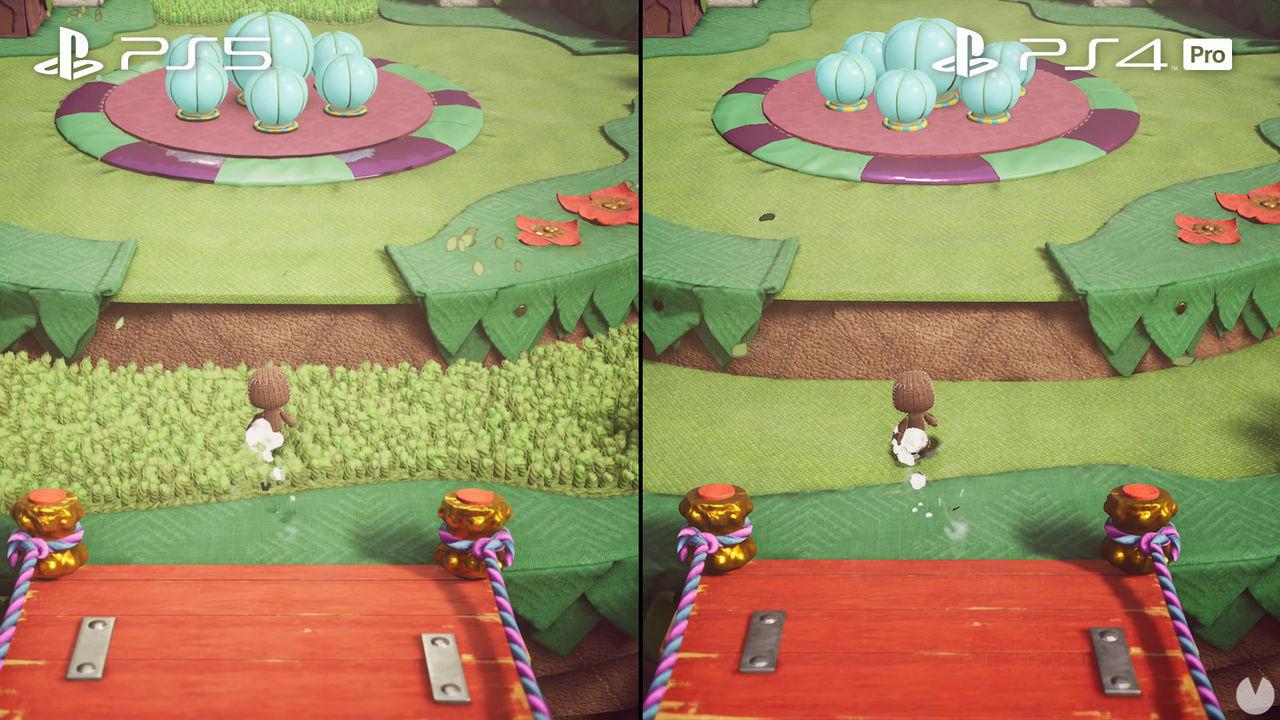 Sackboy: Una aventura a lo grande funciona a 60 fps en PS5 y PS4, pero hay diferencias