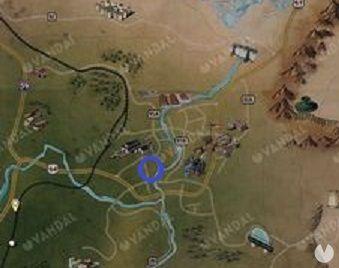 Fallout 76 - Depósito de trenes de Morgantown: localización de la Servoarmadura