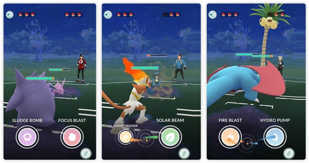 Come to fighting between players Pokémon Go