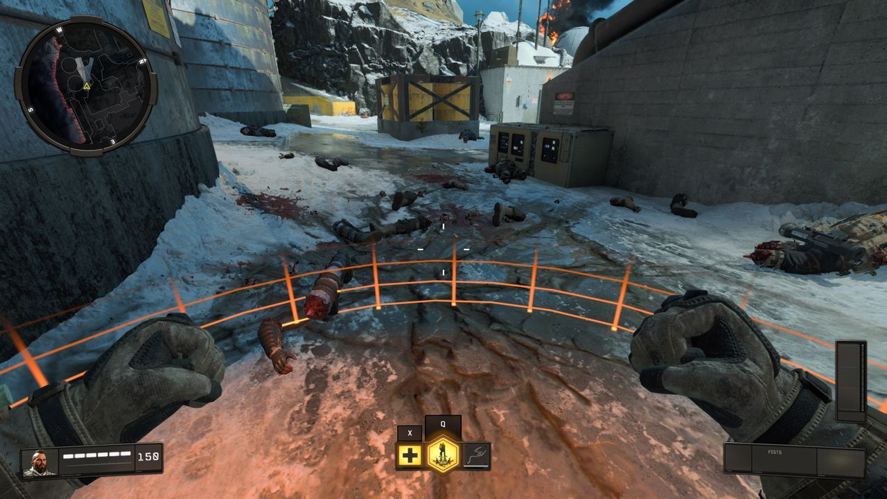players of Black Ops 4 win game of Blackout with snow balls