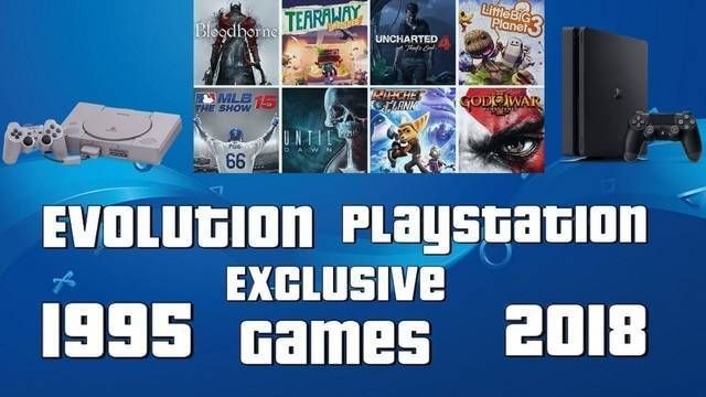 So has been the evolution of the exclusive games from PSX to PS4