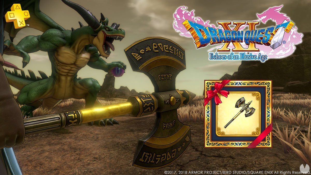 Dragon Quest XI provides the Axe from kaiser for users of PS Plus