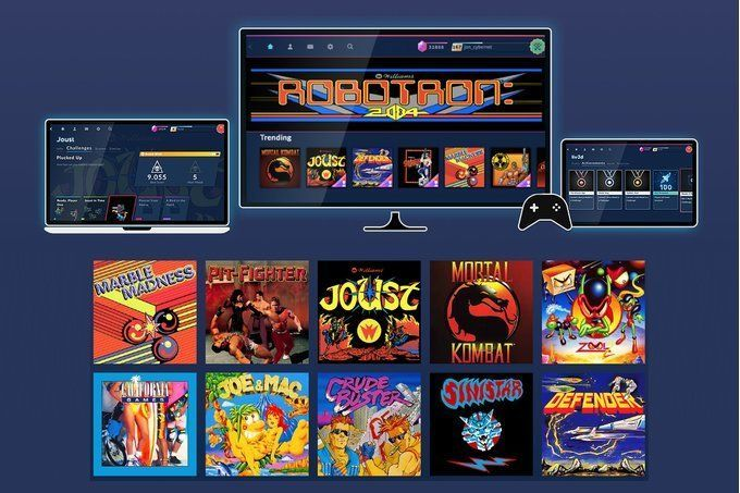 this is Antstream, a Netflix of video games retro