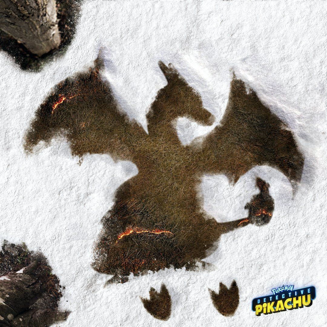 The film Detective Pikachu congratulates the holidays with fun images