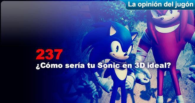 ¿Cómo sería tu Sonic en 3D ideal?