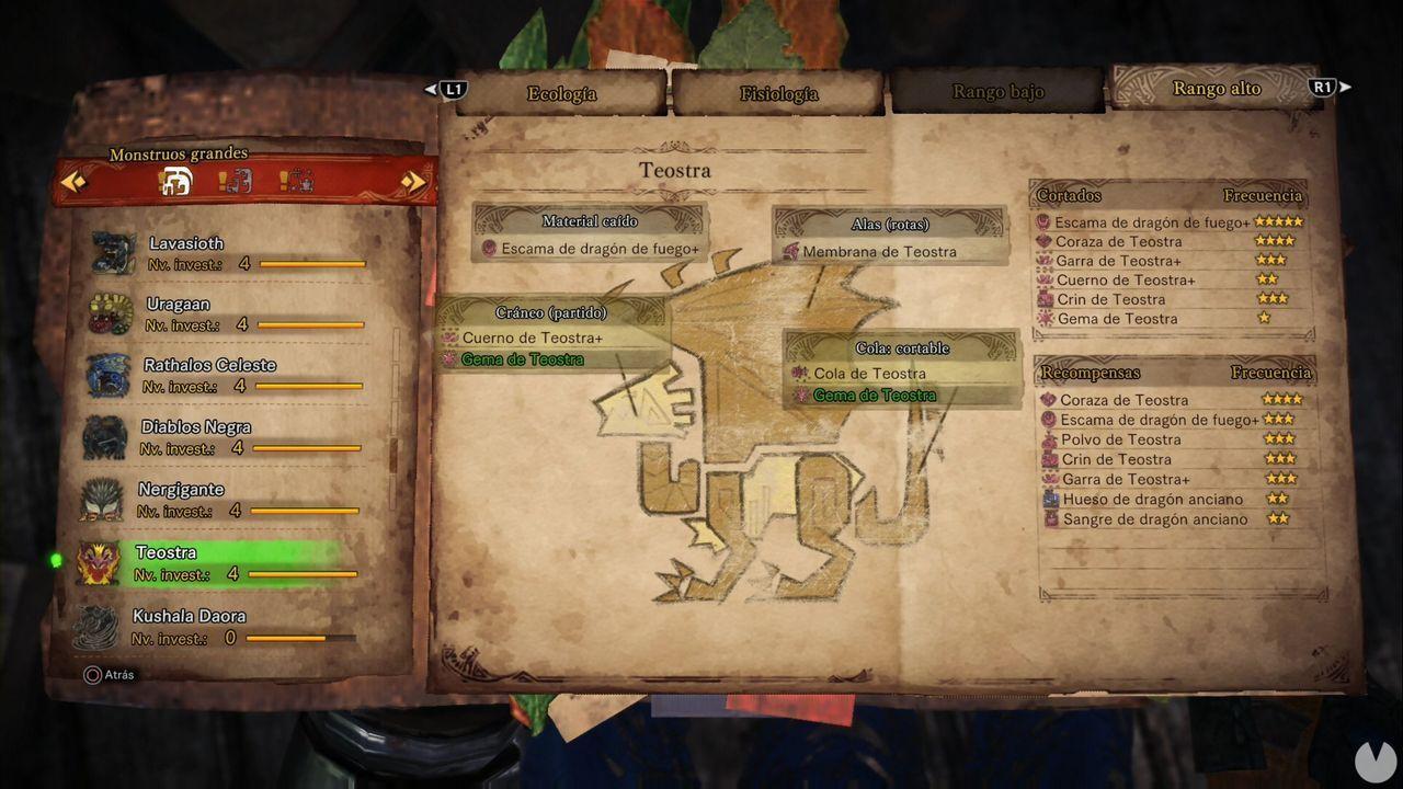 Teostra, Monster Hunter World, Materiales, Objetos