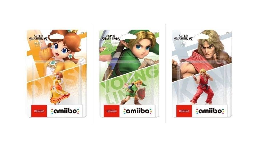 The amiibo of Ken, Daisy and Young Link, coming this April