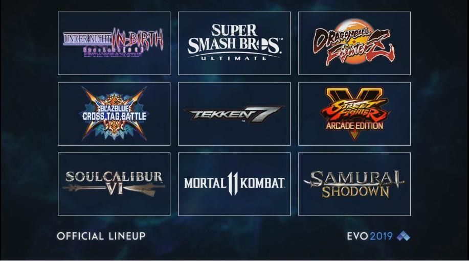 EVO 2019: These are the final numbers of participants in each title