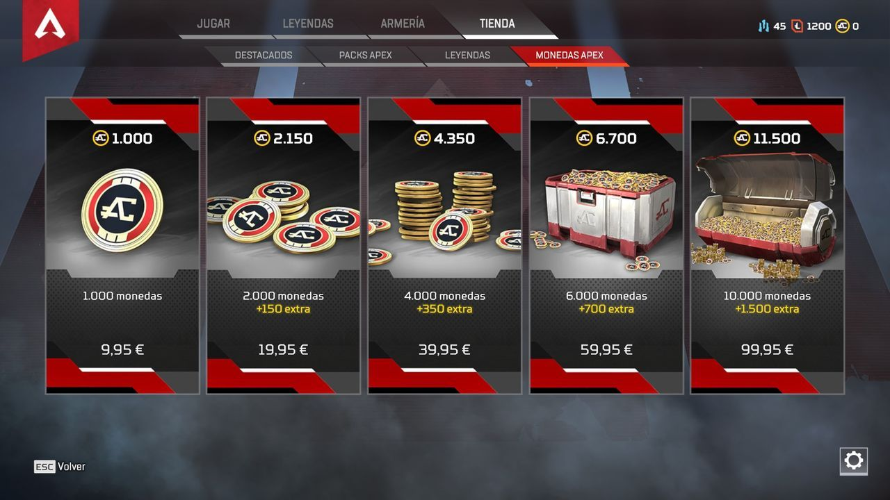 apex coins cost