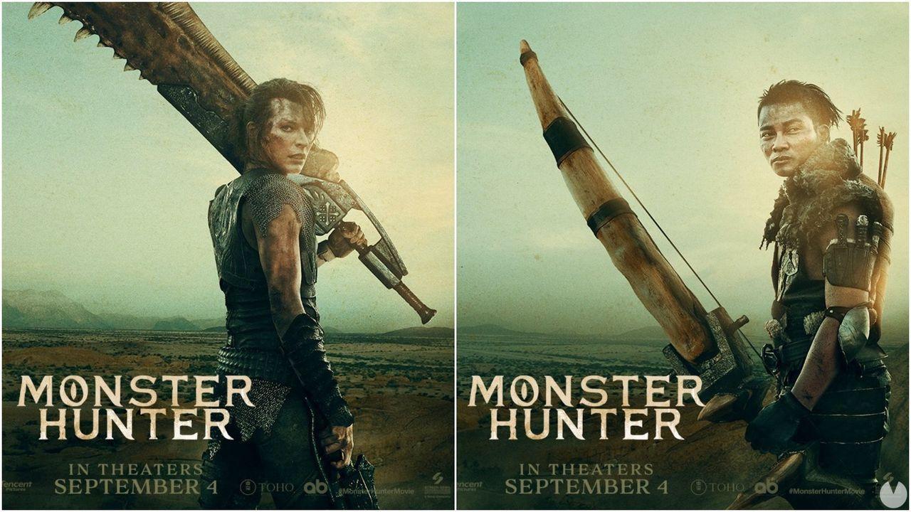La película de Monster Hunter muestra sus primeros pósters ...