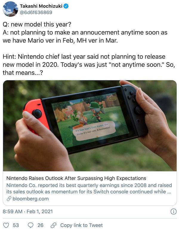 Nintendo no planea anunciar pronto el modelo Switch Pro