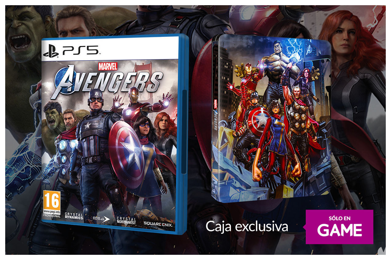 Caja metálica de Marvel's Avengers exclusiva de GAME.