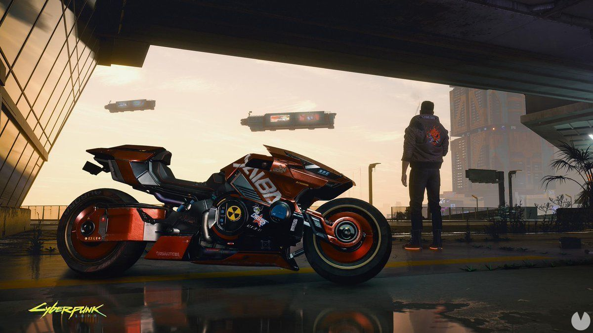 So it will be the bike that we will be able to tour the city of Cyberpunk 2077