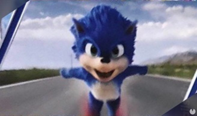 Recreate the scenes shown at Cinemacon 2019 of the film of Sonic