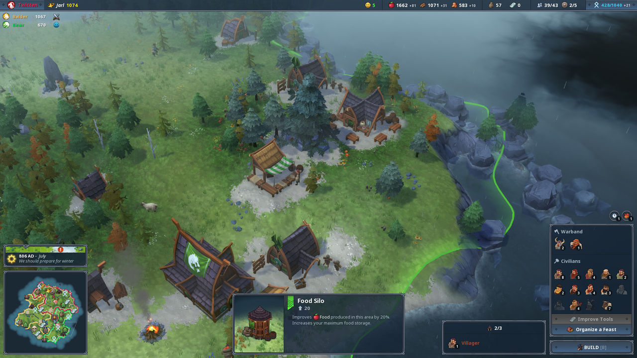 Northgard, the game of strategy viking, will come to consoles