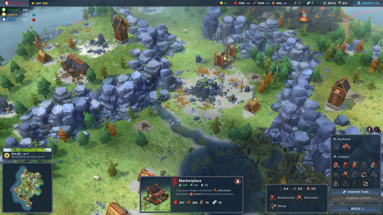 Northgard, the strategy game viking, will come to consoles
