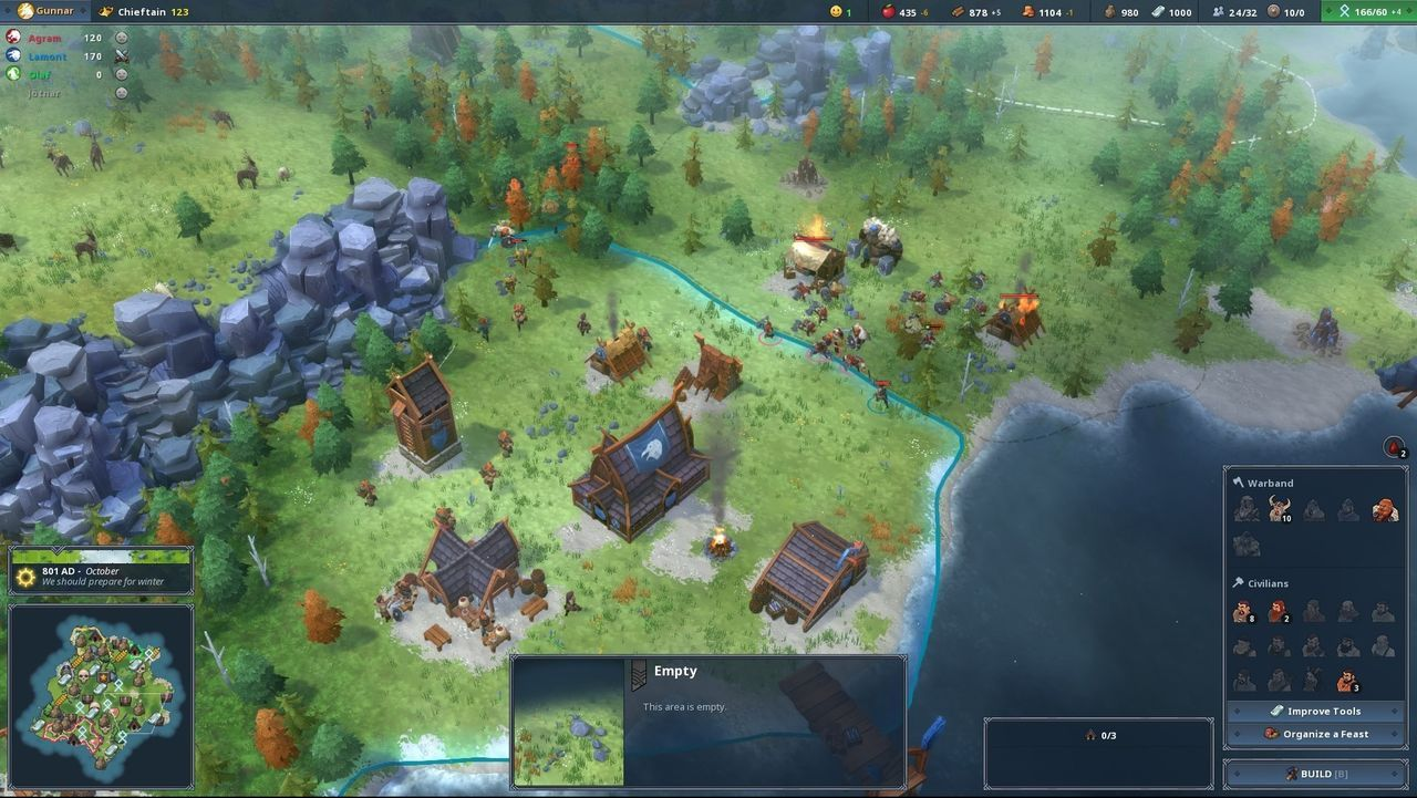 Northgard, the game of strategy viking, you will come to consoles