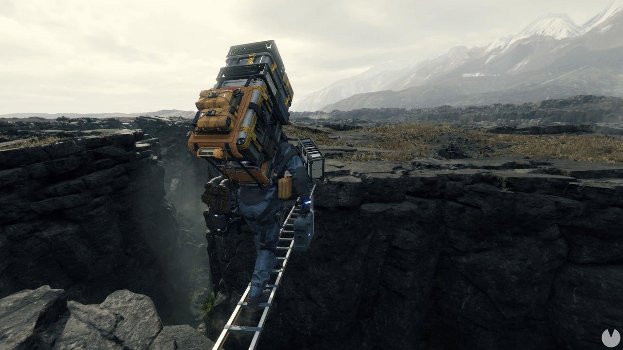 Death-Stranding pays homage to Donkey Kong with one of his mechanical