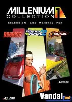 Burnout, Crazy Taxi y Virtua Tennis 2 por 69.95 en la Millenium Collection de Acclaim