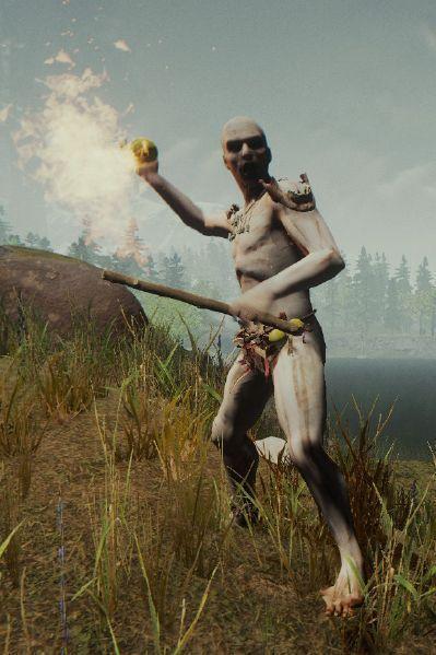 Canibal lanzador de fuego The Forest