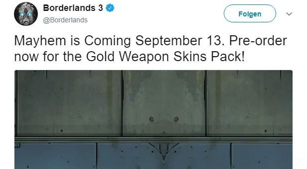 filters the release date of Borderlands 3: the 13 September