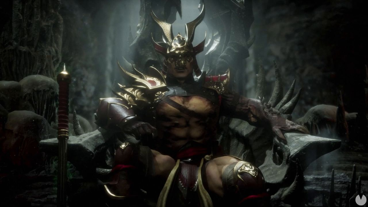Shao Kahn is shown in action in Mortal Kombat 11