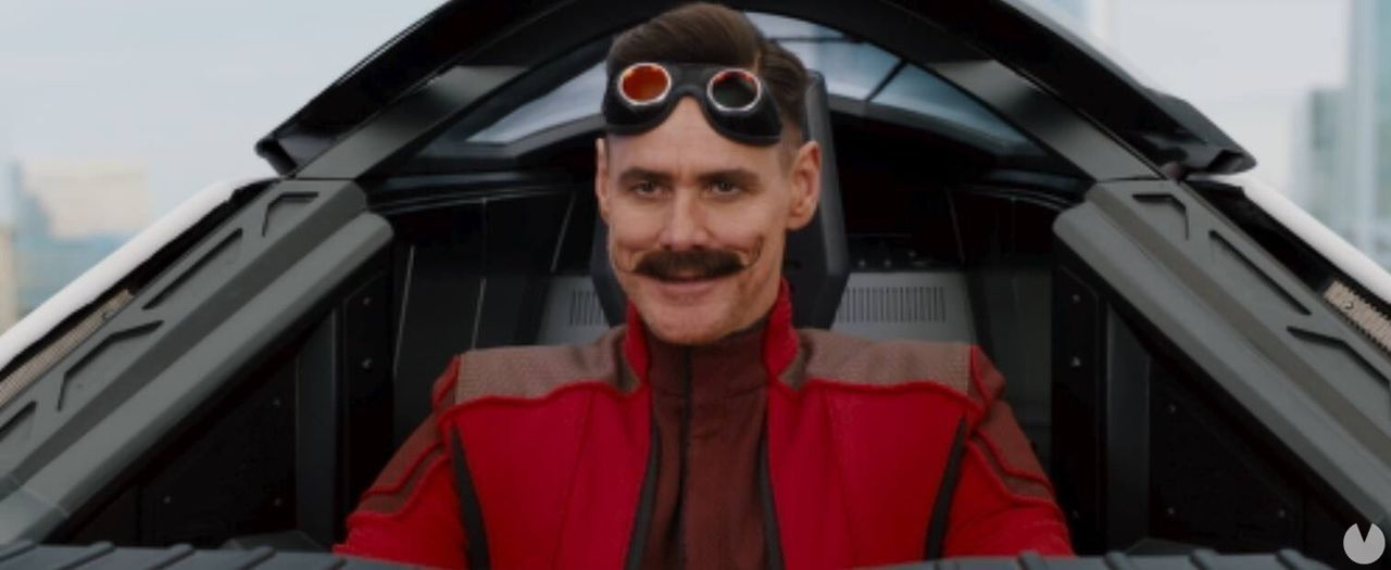 the first image of Jim Carrey as Robotnik in the movie of Sonic