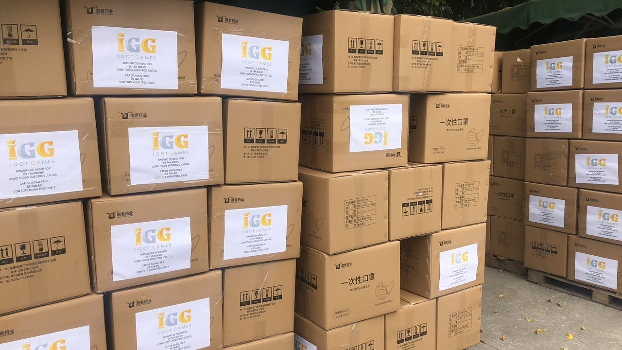 The gaming company IGG donates 250.000 masks to Spain to fight against the coronavirus