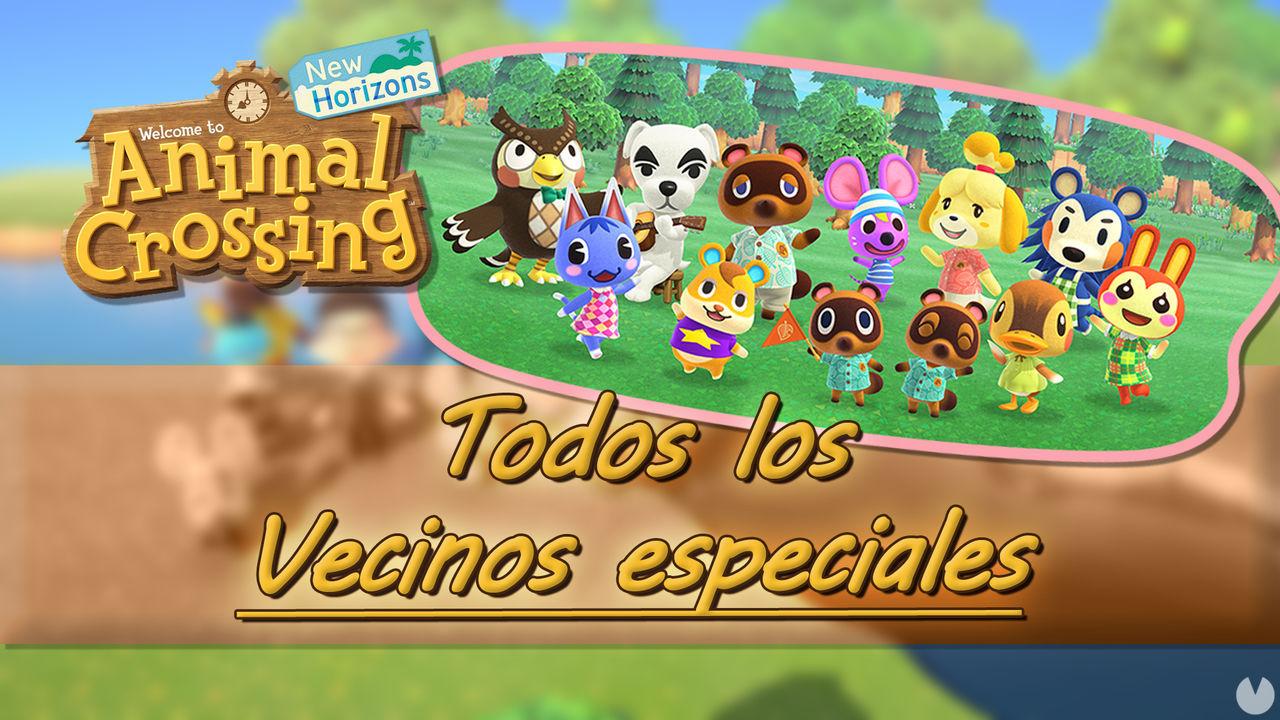 TODOS los vecinos especiales en Animal Crossing: New ...