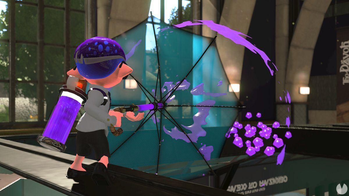 Splatoon 2 adds a new type of umbrella