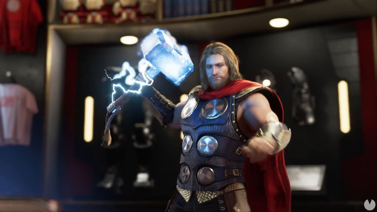 Marvel's Avengers presents a video of Thor, one of the protagonists of the game