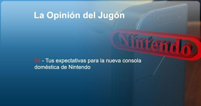 Tus expectativas para la nueva consola doméstica de Nintendo