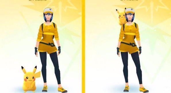 Pikachu / Eevee al hombro - Pokemon go