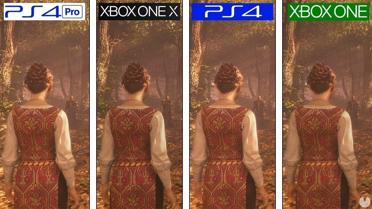 Compare the graphics To Plague Tale on Xbox One, PS4, PS4 Pro and Xbox One X