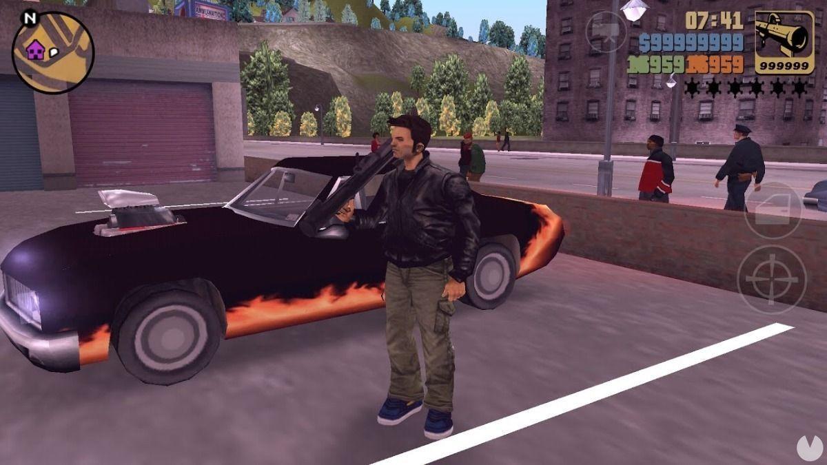 Grand Theft Auto 3: personaje con trucos activados