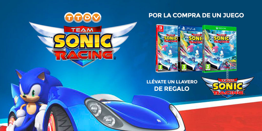 Team Sonic Racing at a good price and with keychain gift TTDV