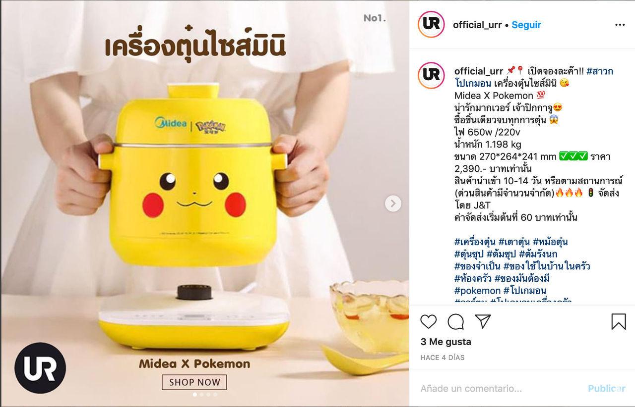 Midea y Pokémon se unen para ofrecer toda una gama de pequeños electrodomésticos