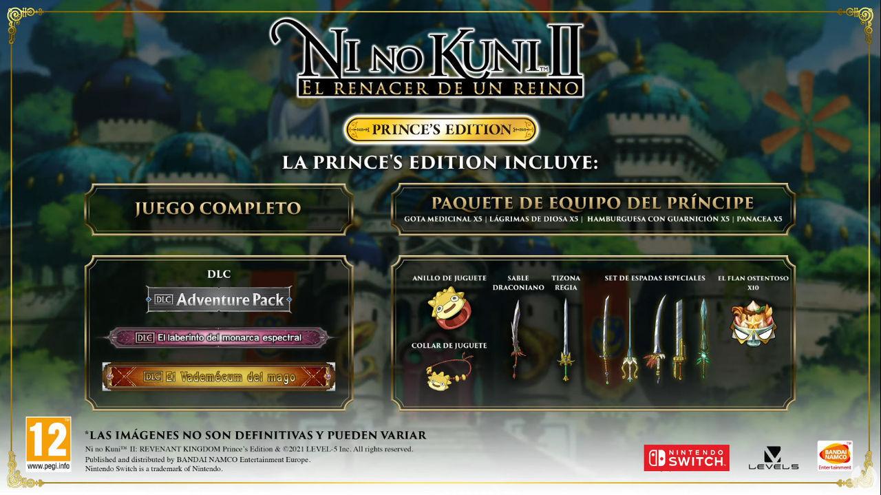 Todo lo que incluye Ni no Kuni II: Revenant Kingdom - Prince's Edition para Switch.