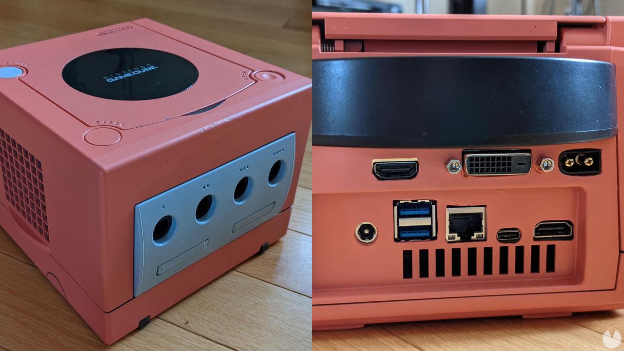 Consiguen crear un PC personalizado dentro del chasis de una Nintendo GameCube