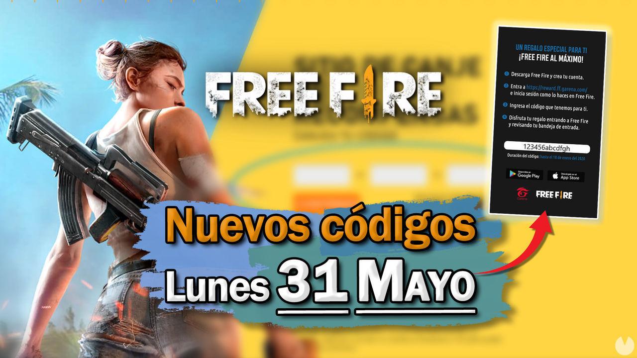 Free Fire: Códigos para hoy lunes 31 de mayo de 2021 - Recompensas gratis