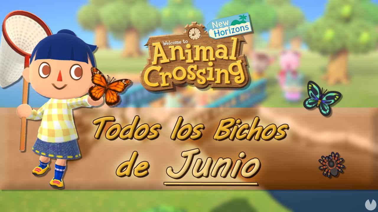 Animal Crossing New Horizons: todos los Bichos disponibles en junio 2021
