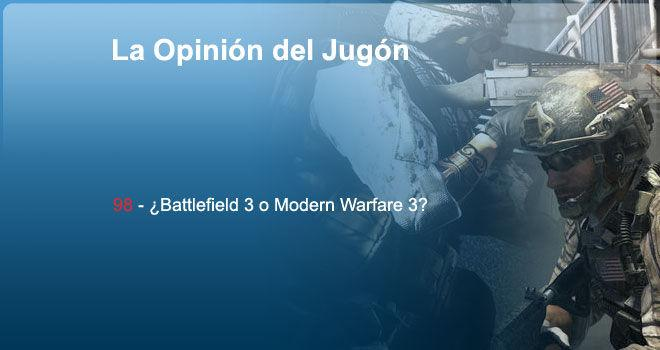 ¿Battlefield 3 o Modern Warfare 3?