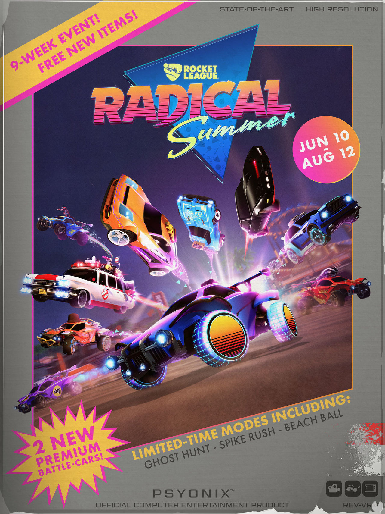 Rocket League announced its event Radical Summer dedicated to the years 80