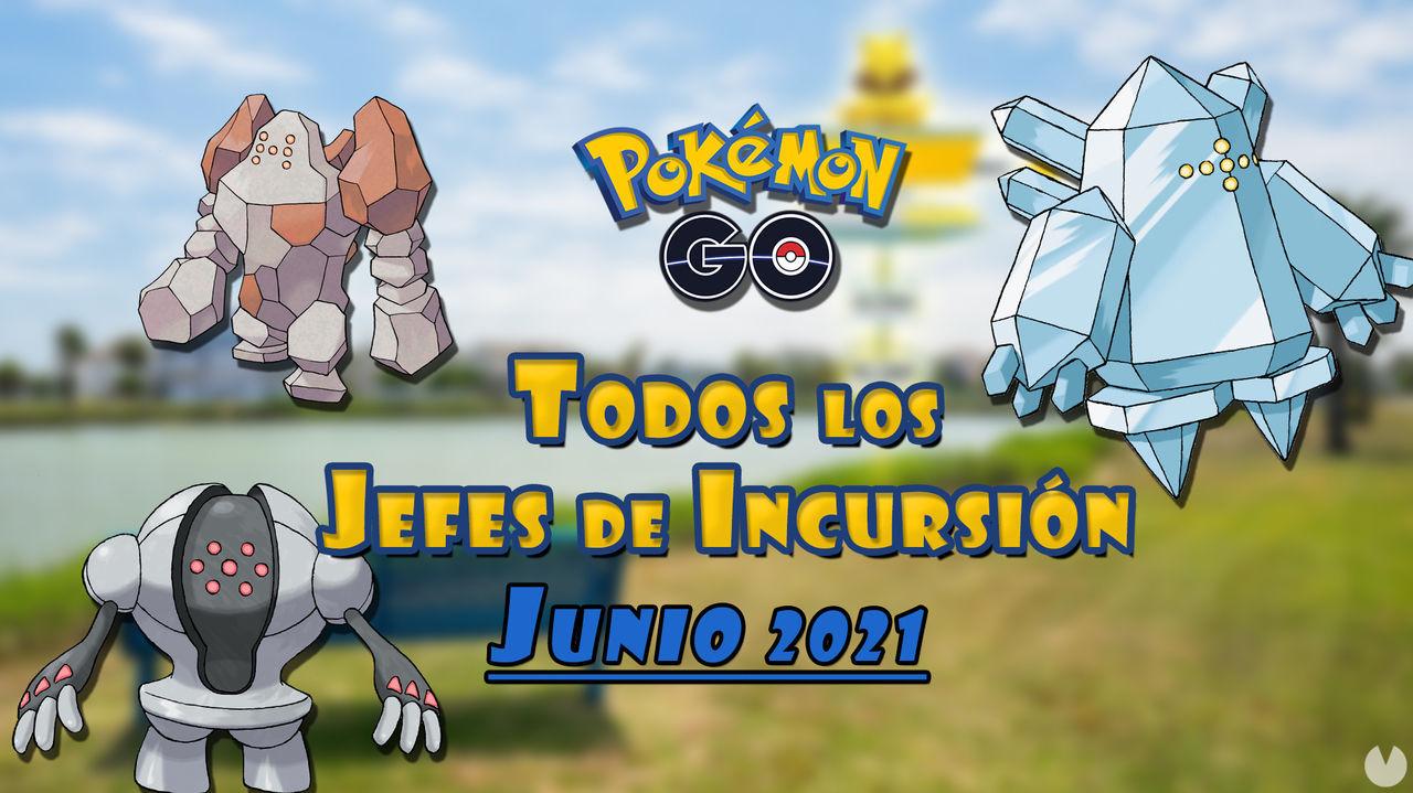 Pokémon GO: Todos los jefes de incursión de Junio 2021 (nivel 1, 3, 5 y Mega)