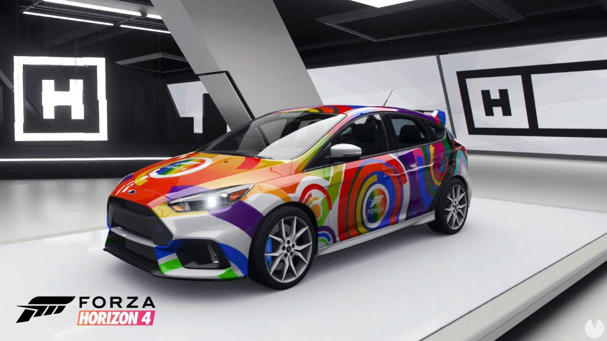 Ford Focus RS con diseño de LGTBQIA+ de Xbox.