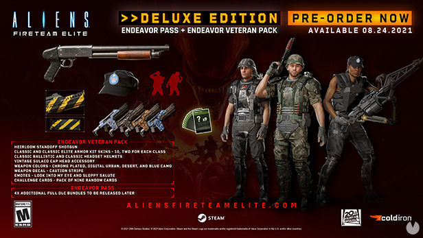 Contenido incluido en Aliens: Fireteam Deluxe Edition.