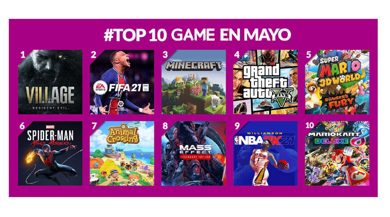 Juegos más vendidos de GAME en mayo de 2021