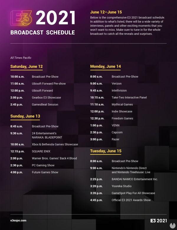 ESA calendario E3 2021
